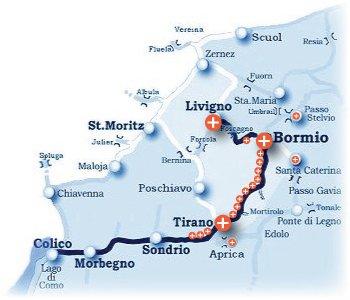 Cartina Geografica Livigno E Dintorni.Alta Valtellina